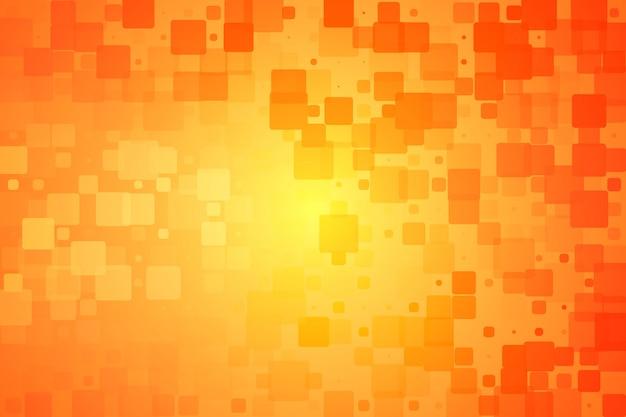 Rouge orange jaune brillant divers carreaux fond