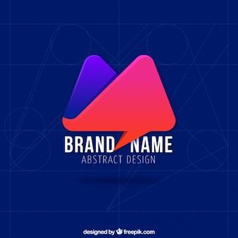 Rouge et violet abstrait logo