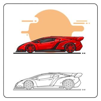Rouge vitesse facile editable