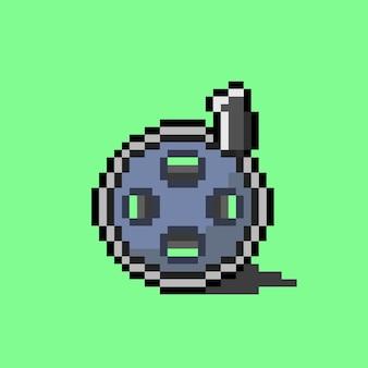 Rouleau de bande de film avec style pixel art