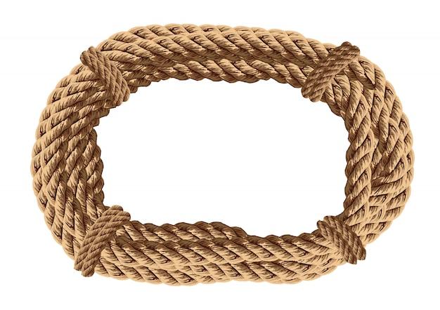 Rouleau de corde. cercle torsadé de corde.