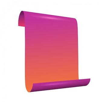 Rouleau de papier moderne isolé