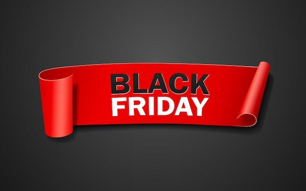 Rouleau de papier rouge, concept de vendredi noir