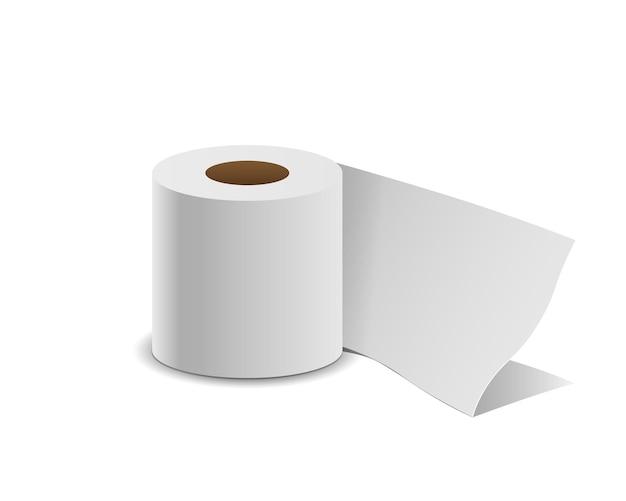 Rouleau de papier de soie, isolé