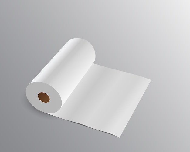 Rouleau de papier de soie long.