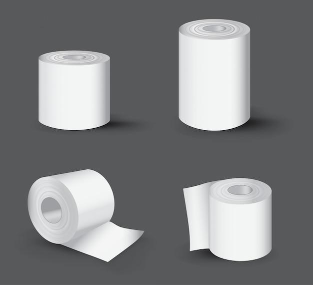Rouleau de papier toilette réaliste