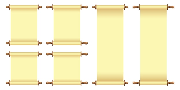 Rouleau de papier vierge isolé