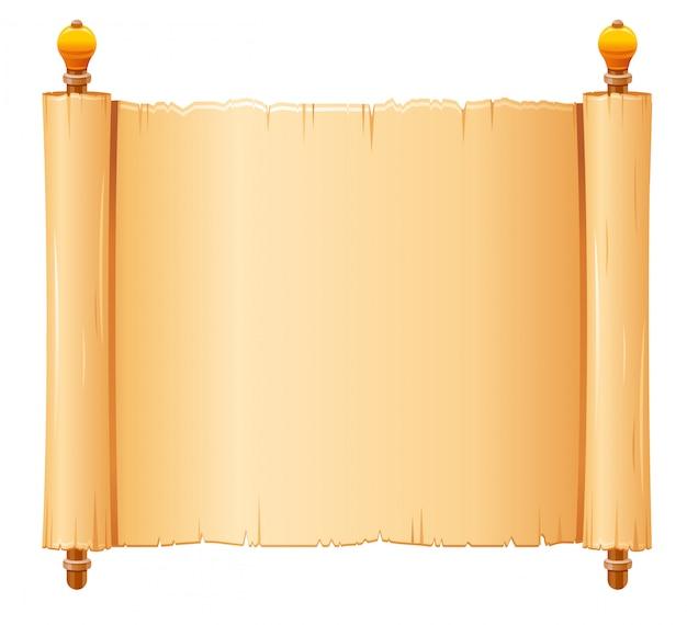 Rouleau de papyrus, papier parchemin avec texture ancienne,