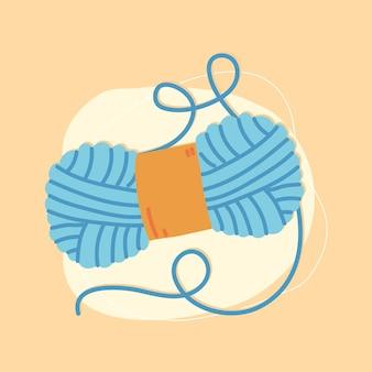Rouleau de tricot de laine