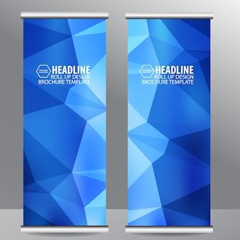 Rouler la bannière de flyer brochure entreprise