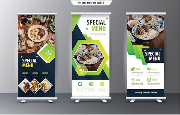 Rouler le modèle de standee d'affichage à des fins de présentation et de publicité