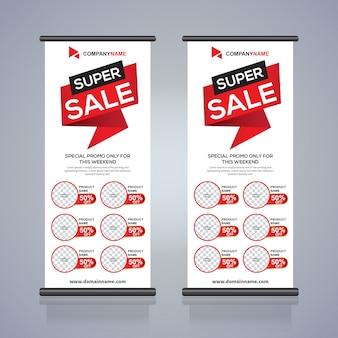 Rouler vers le haut modèle de conception de bannière flyer brochure, abstrait, tirer vers le haut design, bannière x-banner et drapeau-bannière moderne, rectangle taille.
