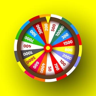 Roulette de casino colorée. illustration.