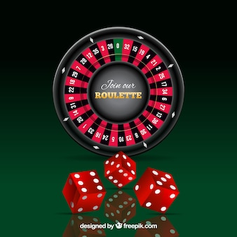 Roulette et dés rouge