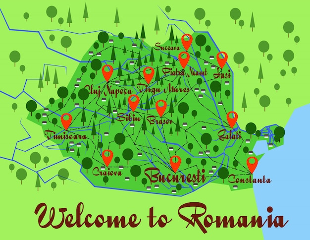 Roumanie carte infographie pays