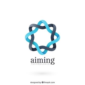 Round abstrait logo de forme