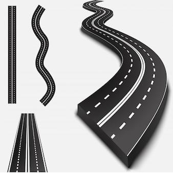 Route asphaltée abstraite