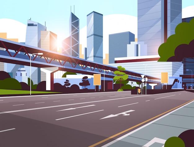 Route de l'autoroute à la ville