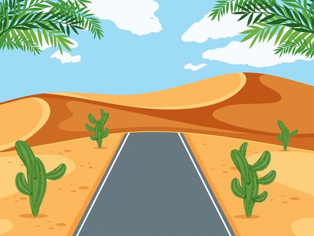 Une route dans le désert