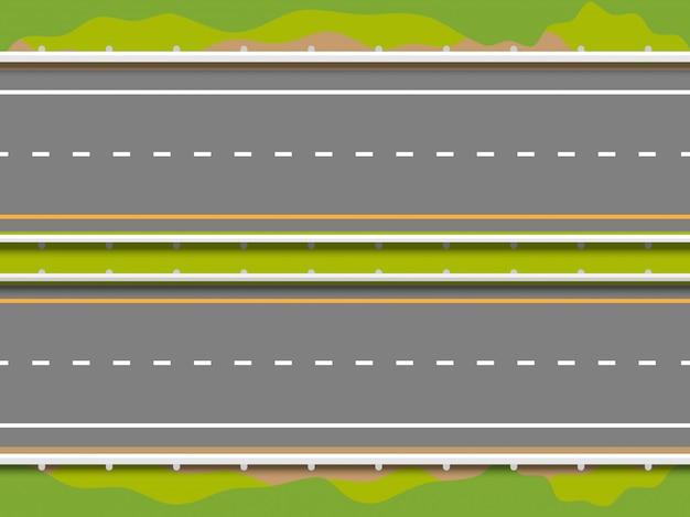 Route droite sans soudure