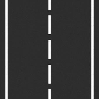 Route goudronnée avec marquage routier