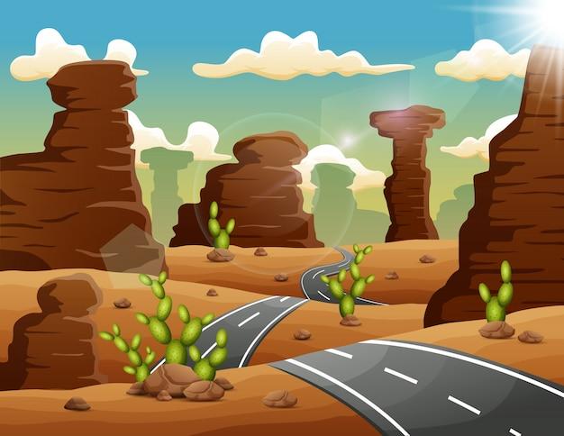 Une route menant aux montagnes