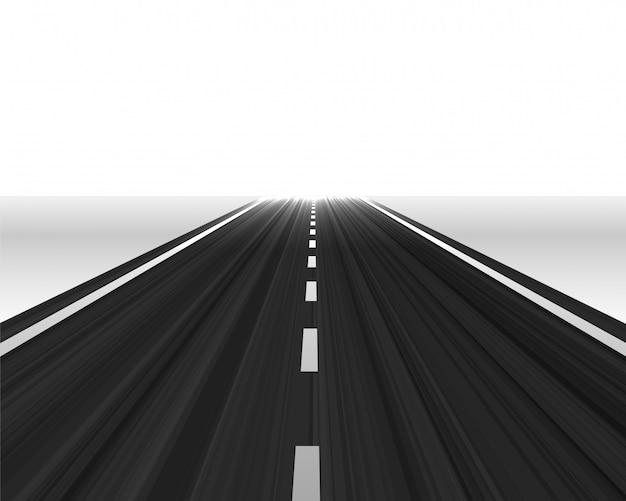 Route de la perspective vers l'horizon