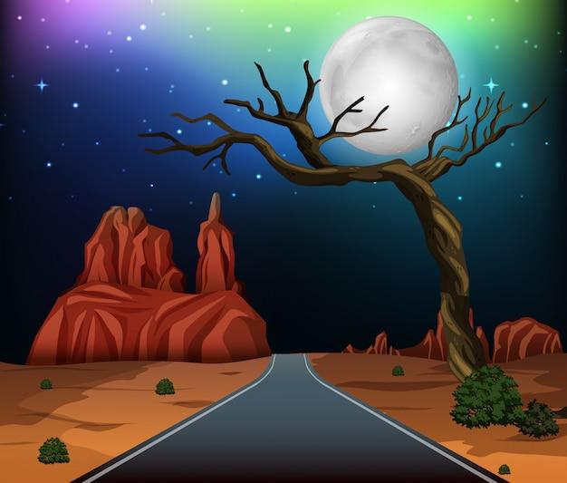 Une route à travers le désert