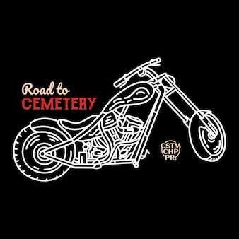 Route vers le cimetière