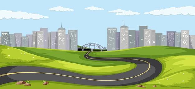 Route vers la grande ville