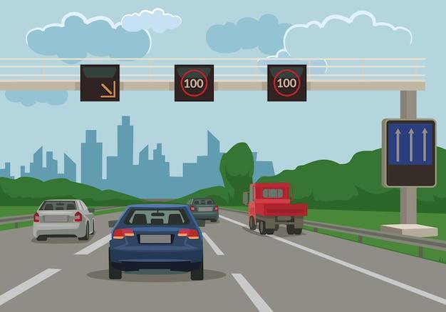Route vers l'illustration plate de la ville