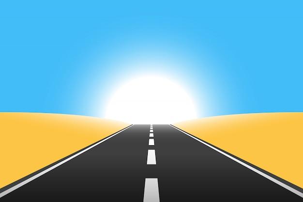 Route vers l'infini illustration de fond