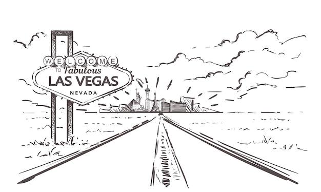 Route vers le paysage de las vegas