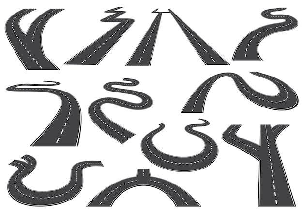 Routes courbes, autoroutes ou routes
