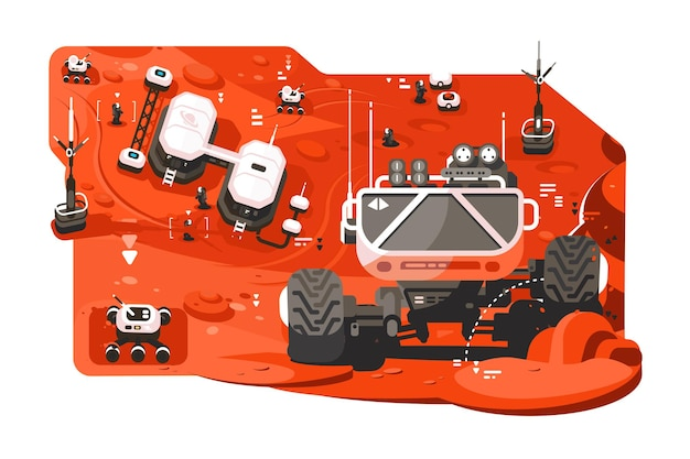 Rover mars futuriste.