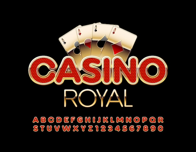 Royal casino avec police rouge