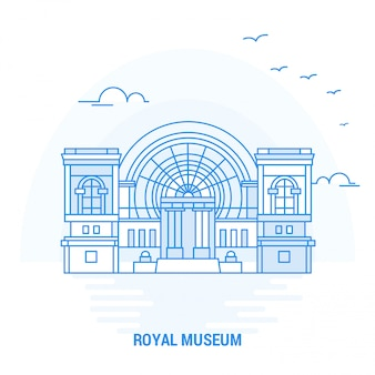 Royal museum blue landmark