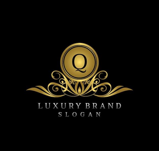 Royal queen boutique q letter logo design