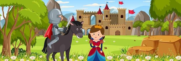 Royaume heureux avec la belle reine