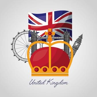 Royaume uni lieux drapeau