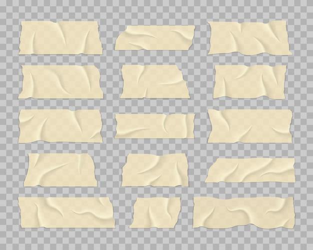 Ruban adhésif avec ombre sur fond transparent