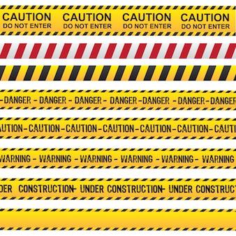 Ruban attention et danger