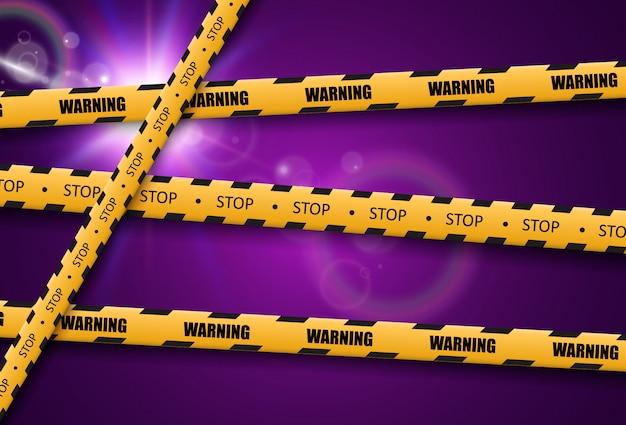 Ruban d'avertissement de barrière sur fond transparent. illustration vectorielle.