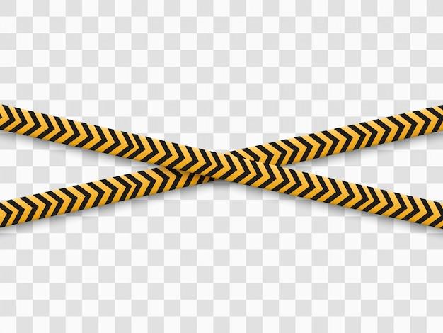 Ruban d'avertissement de barrière sur fond transparent. illustration.