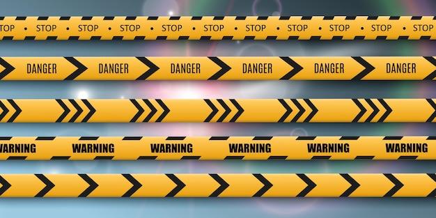 Ruban d'avertissement de barrière