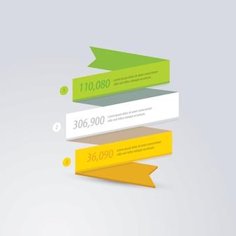 Ruban bannières affaires infographie