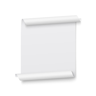 Ruban blanc. bannière. rouleau de papier. illustration.