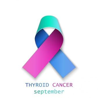 Ruban de cancer de la thyroïde réaliste