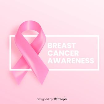 Ruban de conception réaliste pour un événement de sensibilisation au cancer du sein