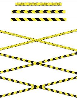 Ruban de construction signalant un danger.